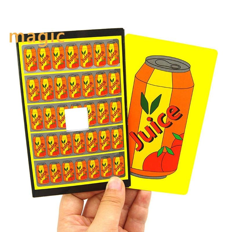Funny Cola Change Juice Magic Tricks Close Up Magic Props Cards Magic Mentalism Illusion Children Toys Magic Accessories