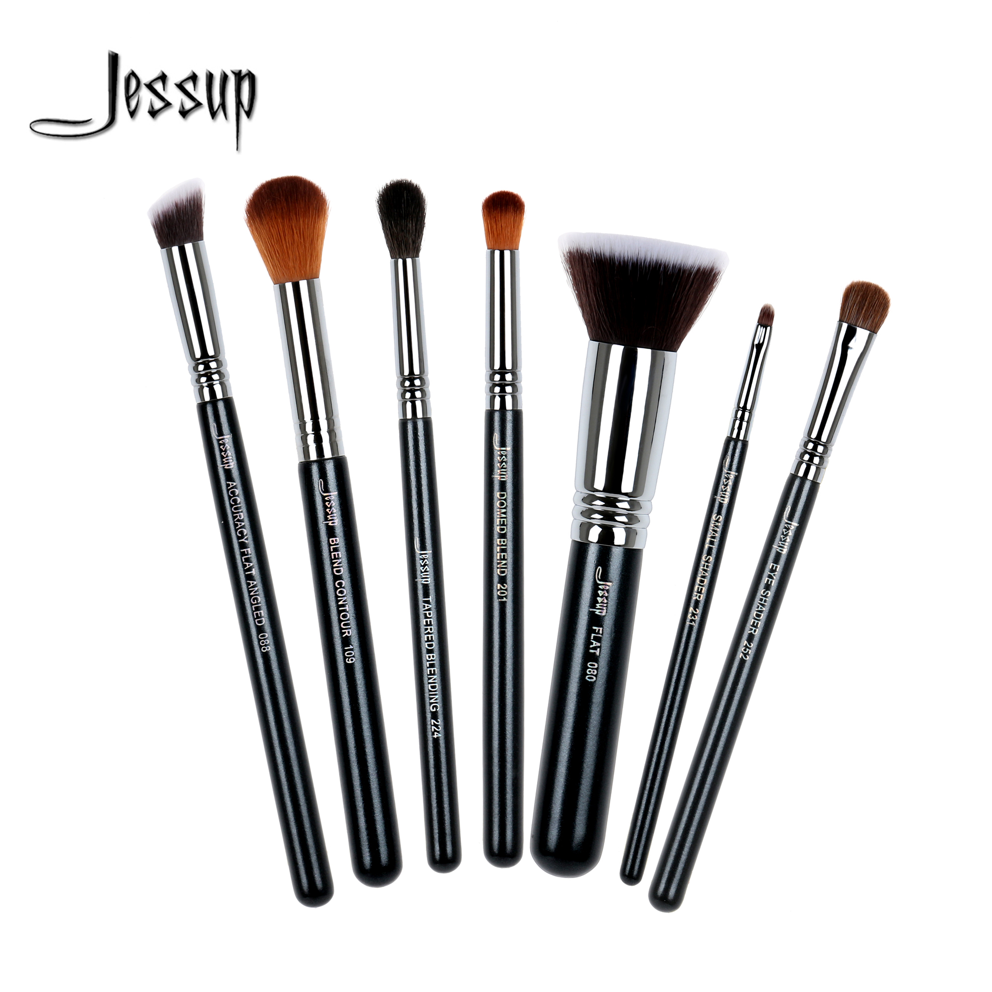 Jessup brushes 7Pcs Makeup Brush Set Kabuki Foundation Blend Contour Shader Eyeliner Powder Makeup Brushes Kit Tools T119 mantra подвесная люстра mantra mara chrome white 1640