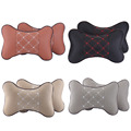 2Pcs leather headrest neck Car Auto Seat cover Head Neck Rest Cushion Headrest Auto Interior Accessories