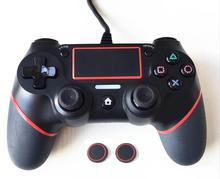 One Controller Wired Gamepad For Playstation 4, PS4 Joystick Gamepads + 2pcs of Silicone Thumb Cap, All  For PS4 Console