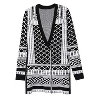 HIGH QUALITY Autumn Winter New Fashion 2019 Designer Sweater Cardigan Women V neck Luxury Beaded Knitting Jacket Outer Clothes