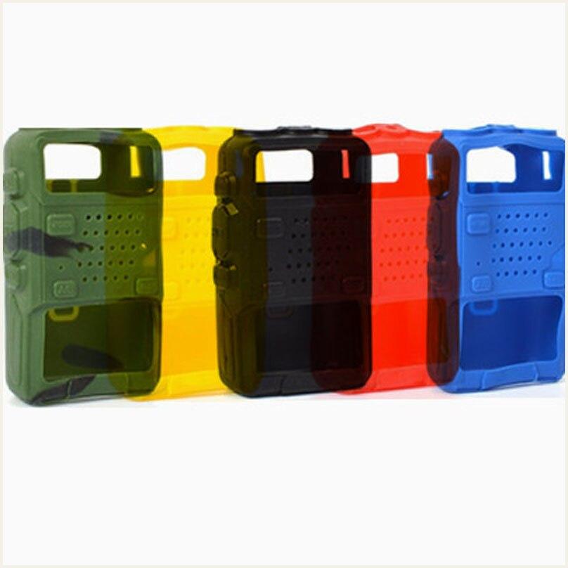 imágenes para 5 Cáscara de la Cubierta de Silicona Caso de Goma Suave de Color de Mano Portátil para Baofeng UV-5R Serie Radios de Dos Vías Walkie Talkie