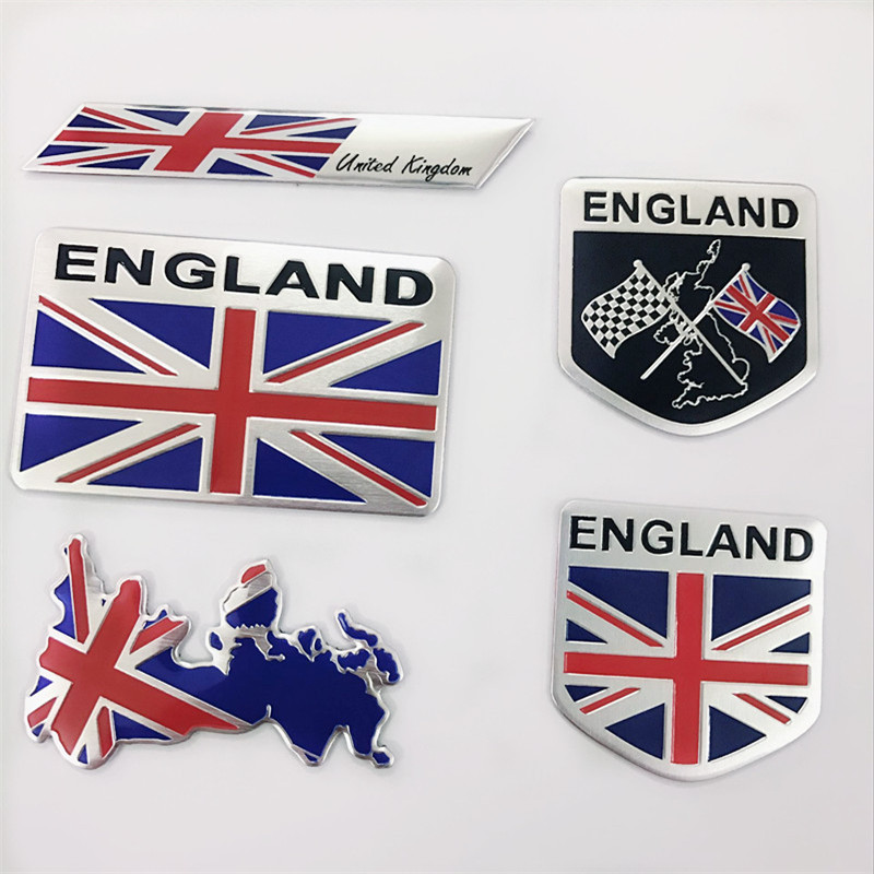 Automobile Motorcycle Exterior Accessories Great Britain UK United Kingdom England National Flag Aluminum Alloy Car Stickers