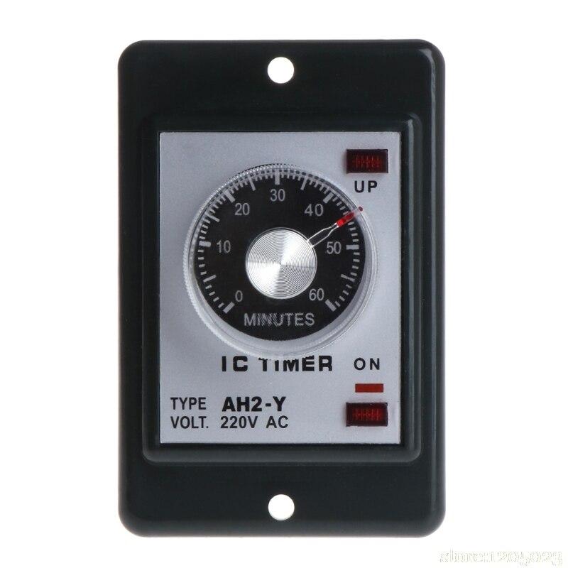 0-60 Sekunden/minuten Power On Delay Timer Zeitrelais Mit Sockel Basis Ac 220 V Ah2-y W329 Ausreichende Versorgung