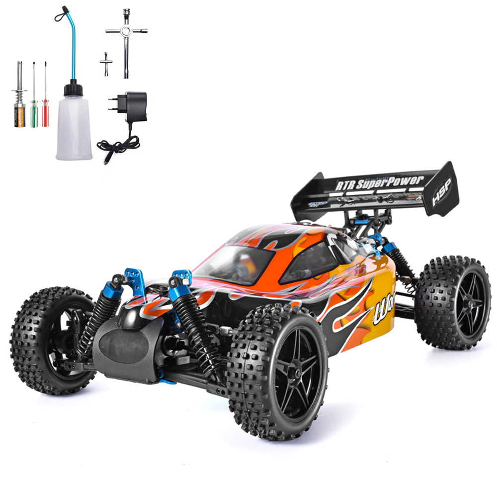 HSP RC Car 1:10 Scale 4wd RC Toys Two Speed Off Road Buggy Nitro Gas Power 94106 Warhead High Speed Hobby Remote Control Car image