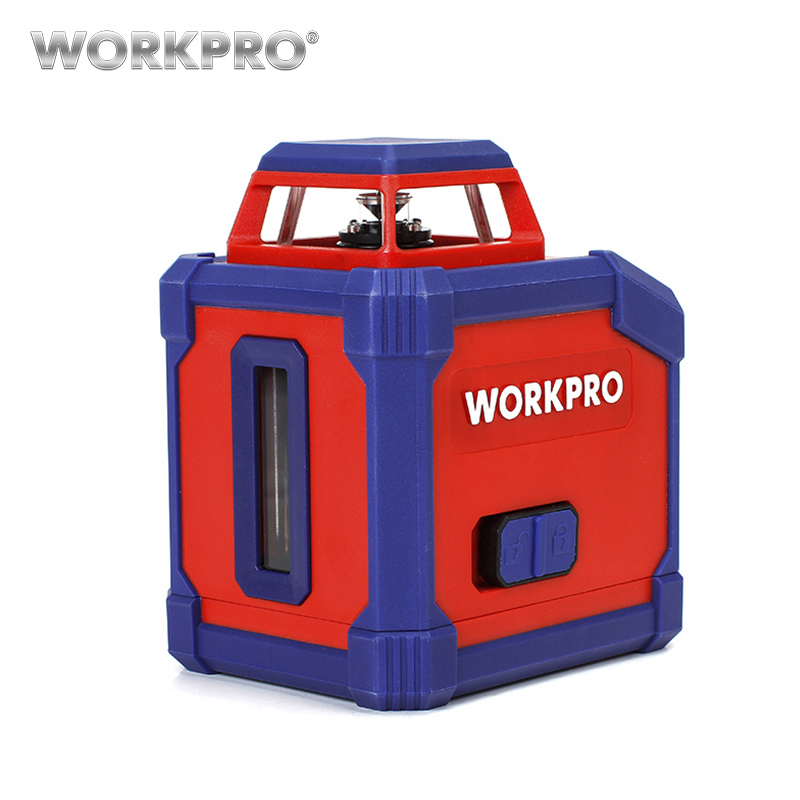 WORKPRO 360-Degree Laser Rangefinder Laser Distance Meter Self-Leveling Line Cross Laser Level