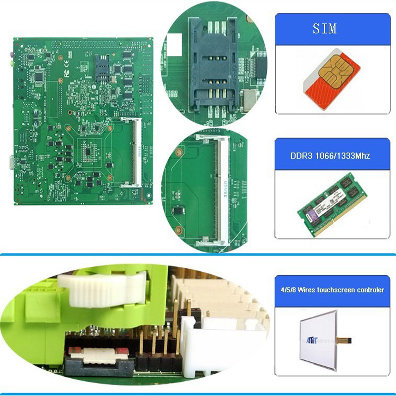 Full tested Mini ITX motherboard support Intel core i3 i5 i7 processor with 6 COM 6 USB industrial motherboard in Industrial Computer Accessories from Computer Office