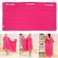 140x75cm Soft Microfiber Magic Absorbent Dry Bath Beach Towel Bathrobe Skirt Dress Rose Red Drop Shipping