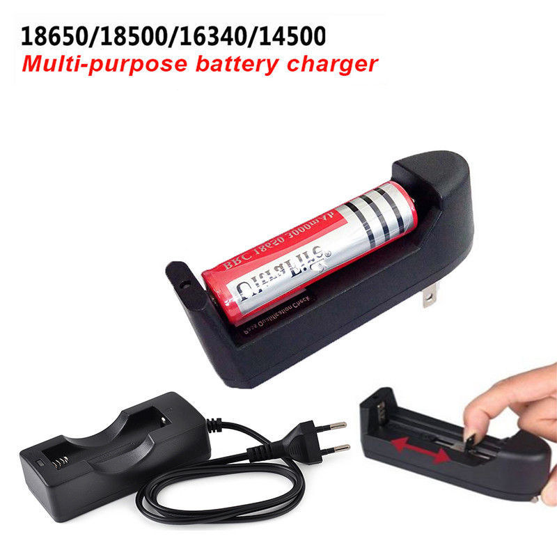 Multi-purpose Smart Battery Charger For 18650/18500/16340/14500 Battery Rechargeable Portable Quick Charging Slot US EU Plug eu us plug ac wall battery charger charging and adapter for 18650 18500 18350 16340 14500 3 7v rechargeable li ion batteries