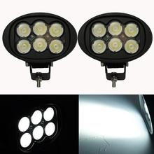 45W Led Work Driving Light Real Power 6inch Oval Off-road Lamp 12V 24V for Jeep SUV ATV Tractor Truck Auxiliary Offroad Forklift