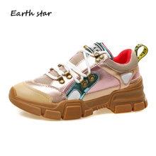 b475459121 Zapatos de mujer Tênis de Plataforma Rebites Casuais Brancos Sapatos de  Couro Real Das Mulheres Da Marca Senhora chaussure Femin.