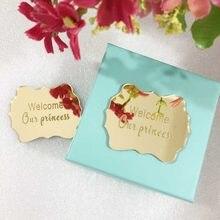 30 stücke Personalisierte Spiegel Gold Silber Hochzeit Gefälligkeiten Angepasst Spiegel Acryl Persönliche Dinge Nach Maß Als Antrag Gast Geschenk