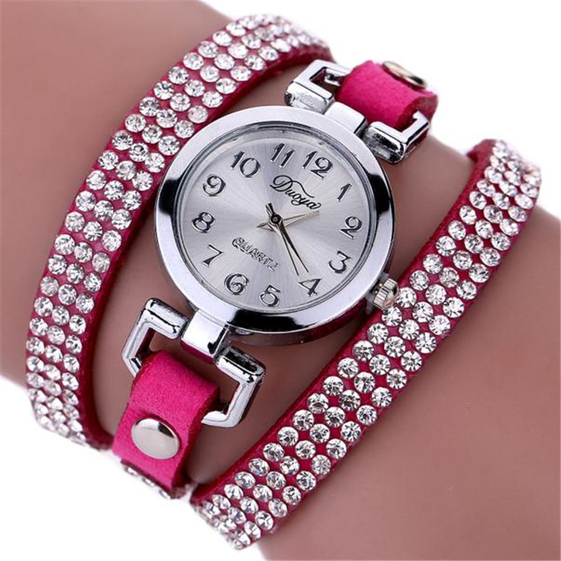 High Quality women fashion casual watch luxury dress ladies Leather Band Analog Quartz Wrist Watch clock Montre femme O10 (10)