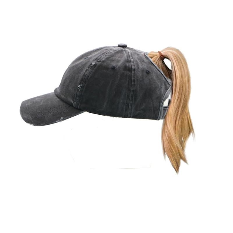 Bonnet Ponytail Baseball Caps Hat With Hole Unisex Multicolor Cotton Baseball  Caps Distressed Retro Washed Cotton d92333513a58