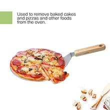 yooap 10 inch stainless steel pizza safe transfer shovel wooden handle big shovel cake transfer baking tool цены