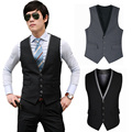 2017 New Fashion Plus Size Men Slim Fit Gentleman Formal Wedding Dress Suit Blazer Vest Tops Coat Waistcoat LB
