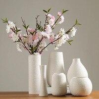 White Vase Ceramic Vase Home Decoration Accessories Dry Flower Modern Minimalist Literary Vases for Flowers Ev Dekorasyon