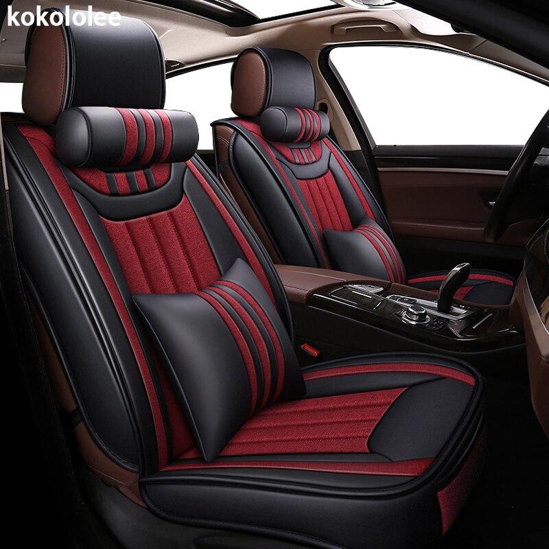 Tampa de assento do carro para a ford courier kokololee figo explorer fiesta focus 1 2 3 fusão ranger automobiles tampa de assento do carro -styling