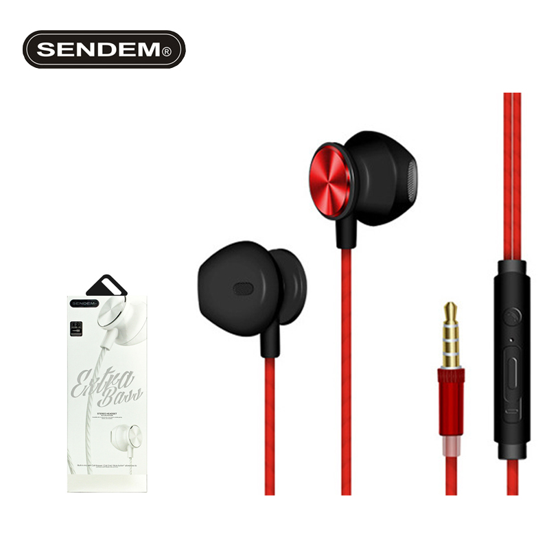 SENDEM X22 high sound quality in-ear Bass Headphone With Headset Stereo music Earbuds For iPhone Samsung Airpod sports earphone