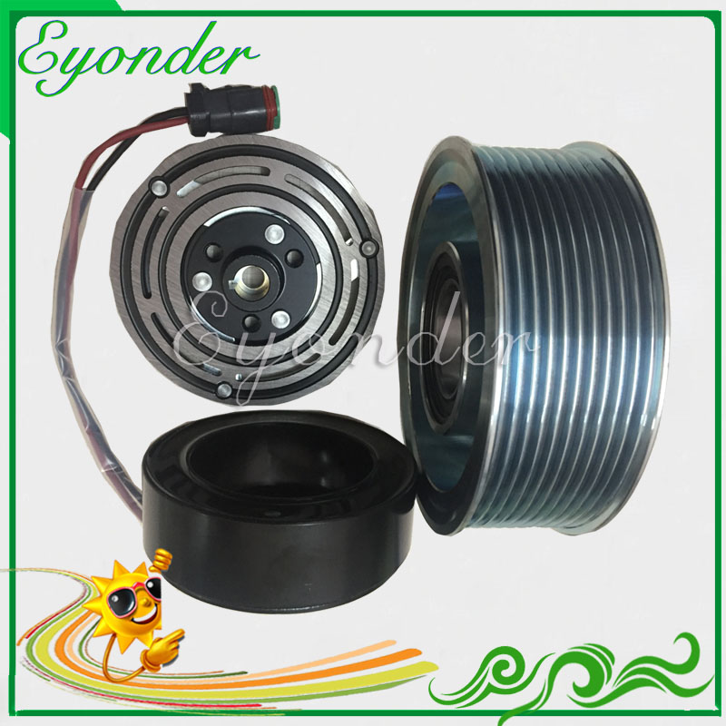 AC A/C Air Conditoning Compressor Magnetic Electromagnetic Clutch for Scania Truck R380 R340 G420 R500 R580 R620 1531196 1888032 Fans & Kits     - title=