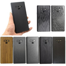 3D Carbon Fiber/Leather/ Wood Skins /Snake Skin Phone Back Cover Sticker For SAMSUNG Galaxy S10e S10+ Note 9 8 S9 S8 Plus S7Edge(China)