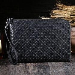 multifunctional genuine leather A4 briefcase for documents manager men's bag for documents file bag A4 folder for handle handbag