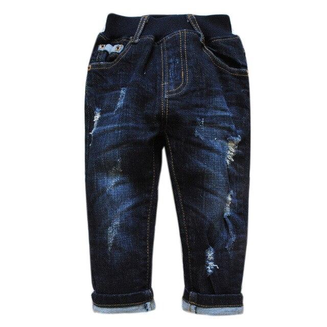 5986 детские джинсы мальчиков брюки осень мальчик джинсы повседневные брюки мода new kids детские отверстие джинсовые брюки брюки весна осень