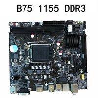 B75 desktop motherboard LGA1155 for i3 i5 i7 CPU support ddr3 memory Card Connector with LGA1155 socket Hot