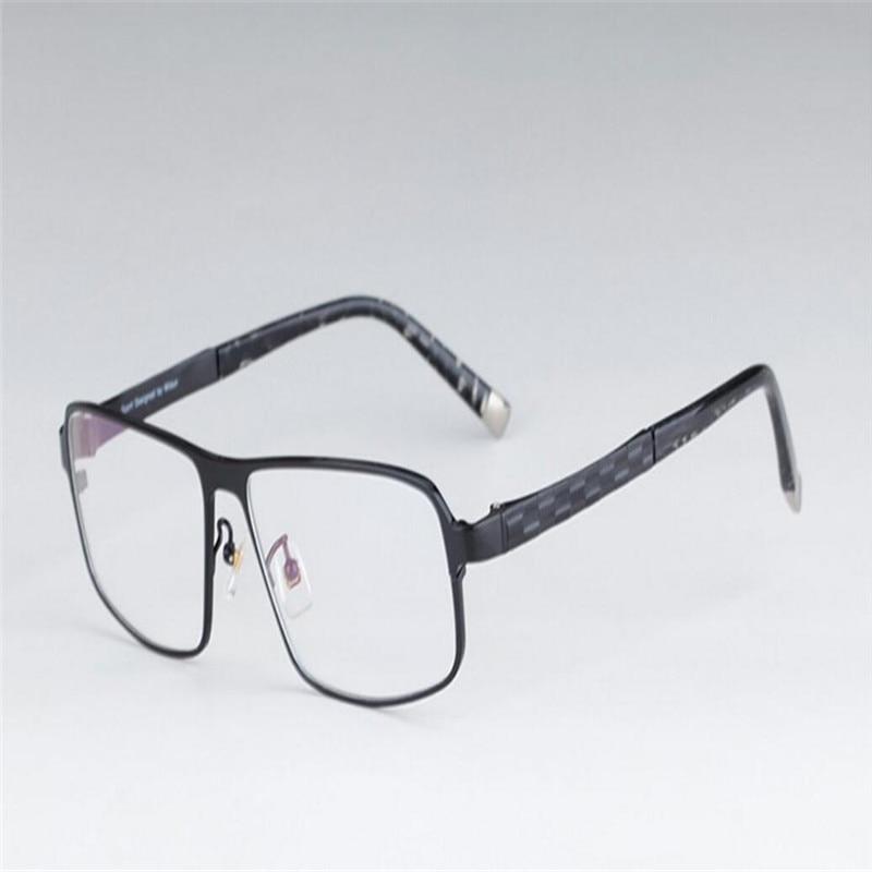 Mongoten High-end Business Men Fashion Alloy Full Rim Ultralight Myopia Eyewear Frame Silver Black Optical Eyeglasses Goggle Men's Eyewear Frames Men's Glasses