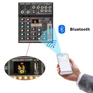 Image 3 - LOMEHO AM G05 휴대용 블루투스 USB 재생 기록 5 채널 PC 재생 기타 2 모노 1 스테레오 전문 오디오 믹서