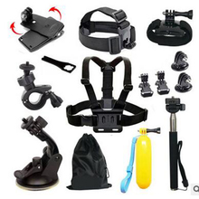 2016 15pcs/set Basic Outdoor Sports Accessories Bundle Kit for Action Sports Camera