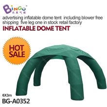 advertising inflatable dome tent   with five legs including blower retail factory toy tent