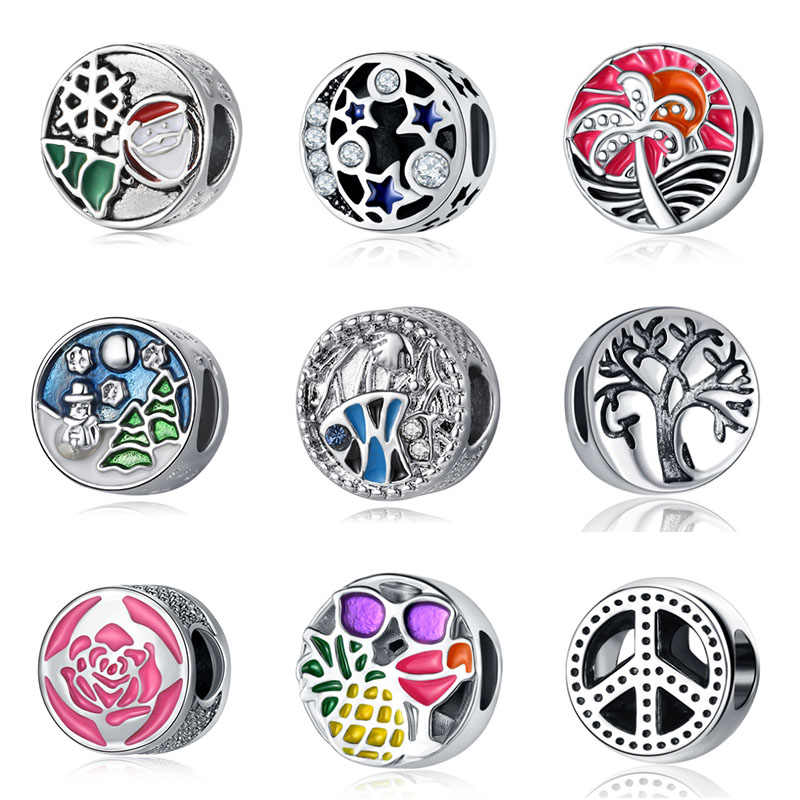 bisuteria fit  arbre de vie beads bijoux bracciale french bead silver perfumes mujer originales jewelry bracelet charms