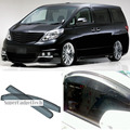 New 4pcs Blade Side Windows Deflectors Door Sun Visor Shield For Toyota Alphard
