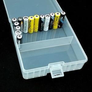 Image 4 - 1Pcs Draagbare Batterij Houder Organizer Voor 100 Stuks Aa Batterijen 14500 Batterij Case Cover Houder Opbergdoos Plastic Transparante
