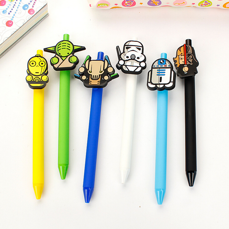 Creative Star Wars Cartoon Gel Pen Ink Marker Pen School Office Supply Escolar Papelaria
