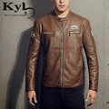 Men Motorcycle Biker Leather Jacket 2016 Stand Collar Punk  Mens Jaqueta De Couro Masculina Pu Leather Jackets and coats BSGD988