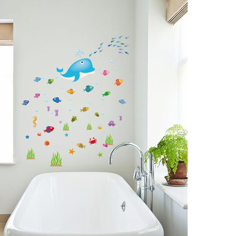 Ocean Kitchen Decor: Underwater Dolphin Ocean Fish Home Decor Kitchen Bathroom