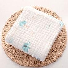Skin-friendly Baby Receiving Blanket 100% Cotton Swaddle Wrap for Newborn 6 Layers Gauze Bath Towel Bedding Blankets