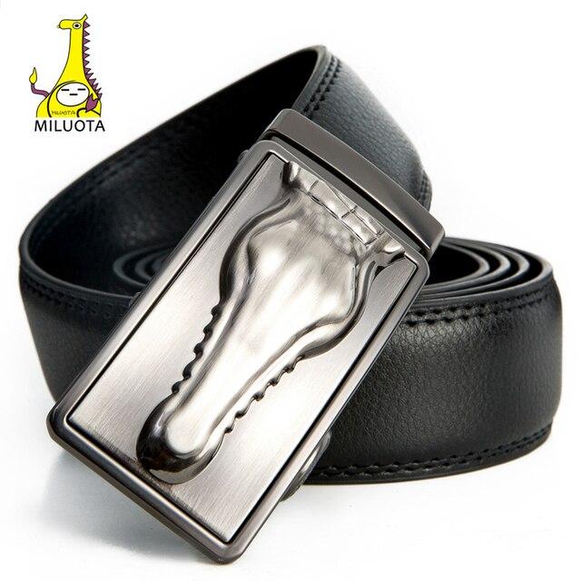 Miyota  cowskin de cuero de lujo genuino cinturones para hombres negocios  Correa cocodrilo macho 6fd11c08e44e