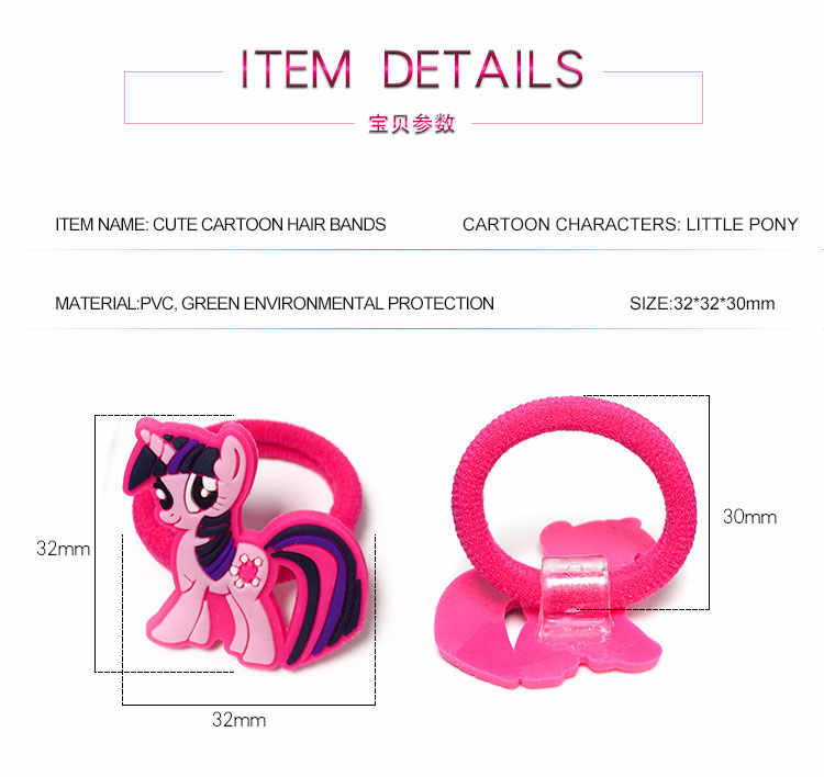 8 teile/los Einhorn Kleine Pferd Cartoon Kinder Haar Bands Stirnbänder Mädchen Headwear Kinder Haar Zubehör Elastische Haar Barrettes
