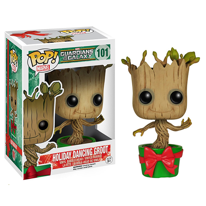 Funko Pop Holiday Dancing Groot Toy 101 Model Guardians Of The Galaxy Groot 10CM Vinyl Action Figures Model toys Nice gifts new funko pop guardians of the galaxy tree people groot