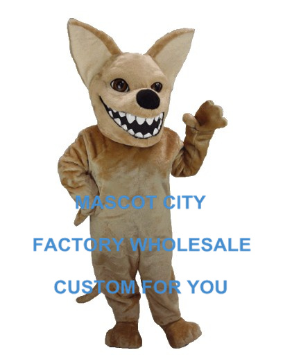 Chihuahua Dog Mascot Costume Adult Size Cartoon Character Mascotte Outfit Suit Fancy Dress Carnival Party Cosply SW741