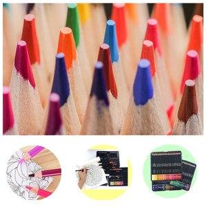 Image 5 - 72 أقلام رصاص ملونة مع صندوق حديد مجموعة أقلام رصاص نابضة بالحياة تأثيرات خلط جميلة رسم فني رسم تظليل تلوين قلم رصاص هدية