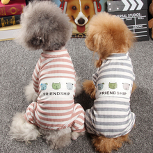 Купить с кэшбэком Dog Pajamas Small Dog Clothes Jumpsuit Pet Overalls for Dogs Puppy Poodle Yorkies Clothing 2019 Spring Summer Dropshipping
