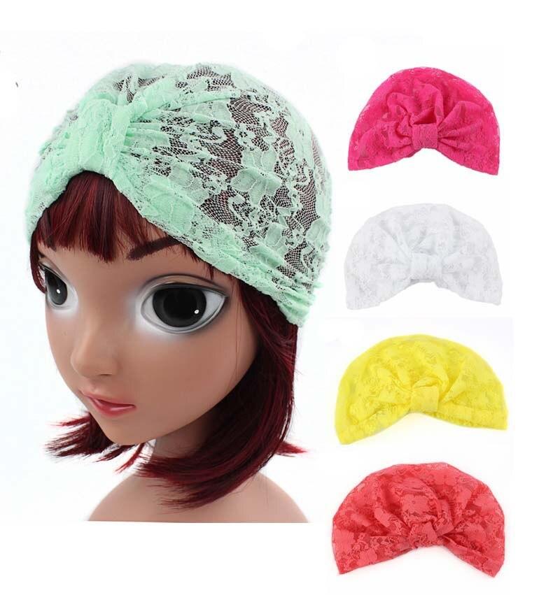 Новый кружевной тюрбан girlslovely, детская шапка, индийская шапка, головной убор