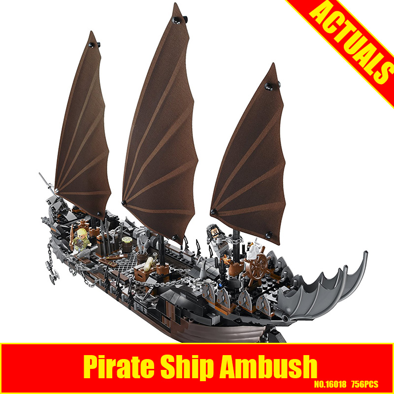 New Lepin 16018 Genuine The lord of rings Series The Ghost Pirate Ship Set Building Block Educational Brick for DIY Toys 79008 lepin 22001 pirate ship imperial warships model building block briks toys gift 1717pcs compatible legoed 10210