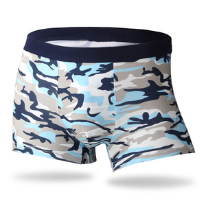 Image 5 - Bamboo Fiber Underwear Men Brand 2019 Camouflage 4Pcs/lot Male Panties Fashion Sexy Mens Boxer Shorts Soft Breathable Underpants