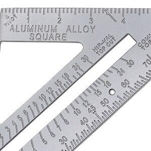 Image 5 - 1Pc Aluminum Alloy Speed Square Protractor Miter Framing Tri square Line Scriber Saw Guide Measurement Meter Carpenter Ruler