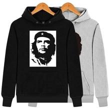 CIP In Pile per L inverno Ernesto Guevara Stampato Con Cappuccio Da Uomo  Hip Hop Divertente Cotone Pettinato Moda Felpa Con Capp. 63581eec645e